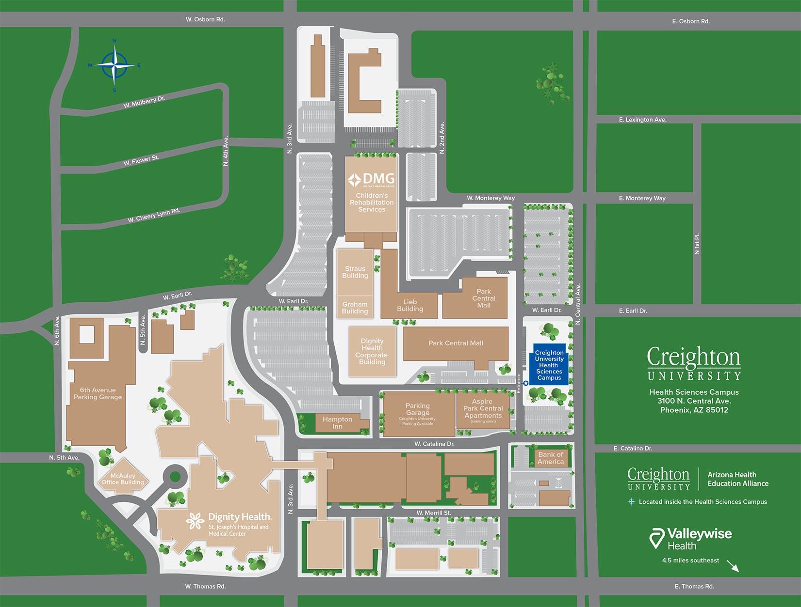 Phoenix Campus Map