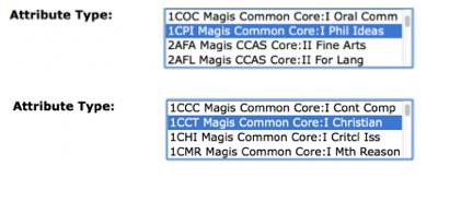 Attribute types Corequisites