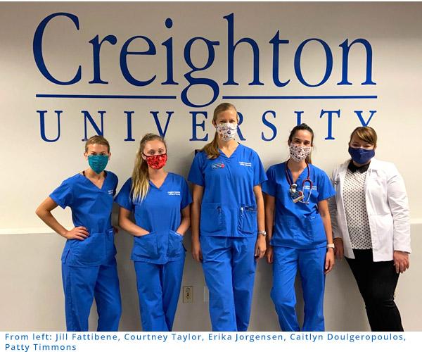 Nursing students at Creighton