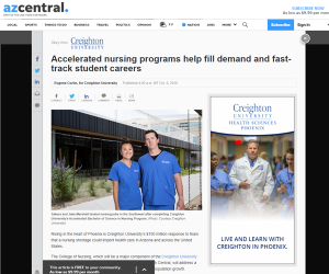 Accelerated Nursing Programs featured in azcentral